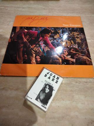 lote vinilo y cassette JOAN BAEZ