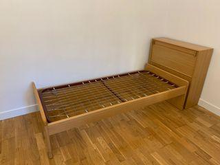 Estructura de cama individual y somier