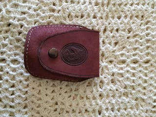 Funda marrón zippo