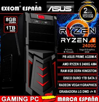 Ordenador Gaming Pc AMD Ryzen 5 2400G 8GB DDR4