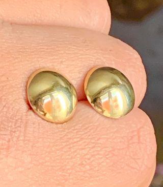 Pendientes de oro18k y plata950, punzón garantía