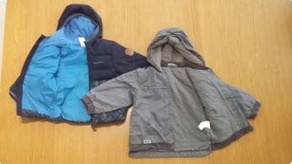 2 chaquetas invierno niño 2 años 83-92 cm.