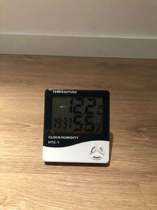 termostato digital con temperatura y humedad