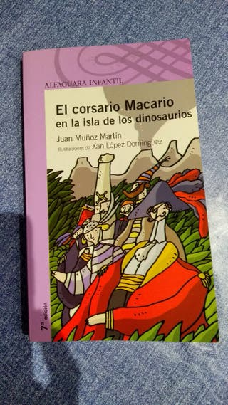 Libro El corsario Macario en la isla de los dinosa