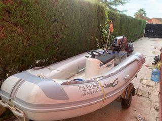Semirrigida Lomac 4m + Motor 25cv + remolque