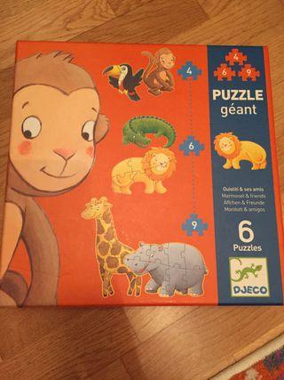 Puzzle gigante. Monitott y amigos. DJECO