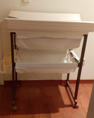 mueble bañera - cambiador