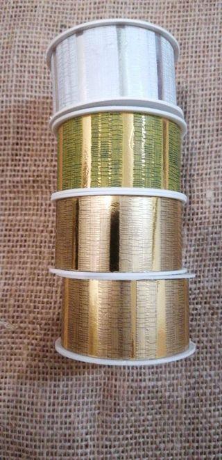 6 und cintas doradas blanco
