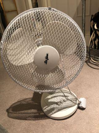 3 speed setting White desk Fan