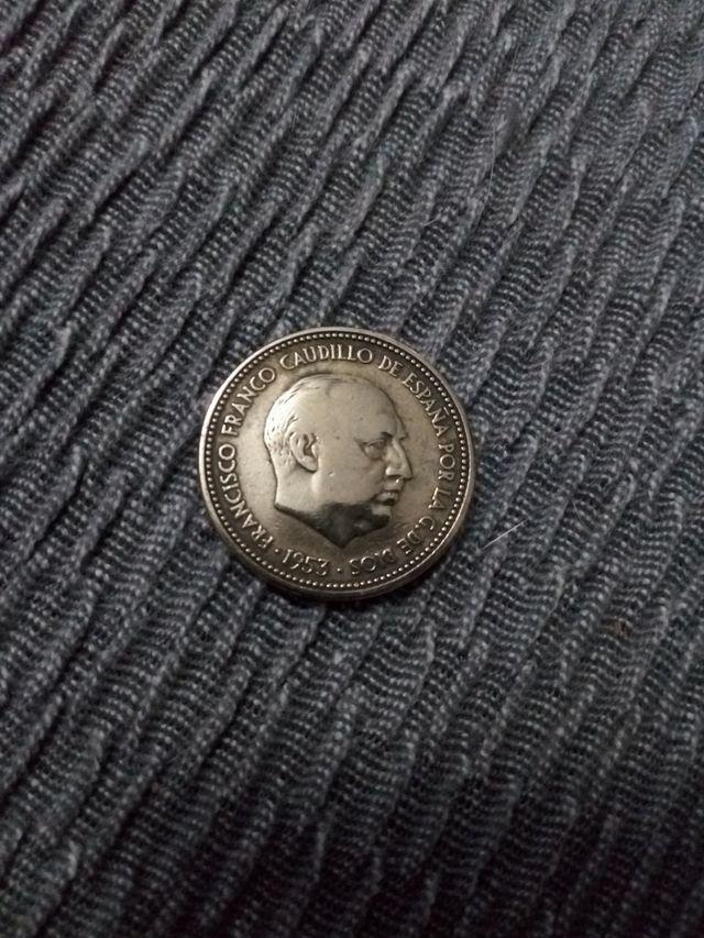moneda 2,50 pesetas 1953