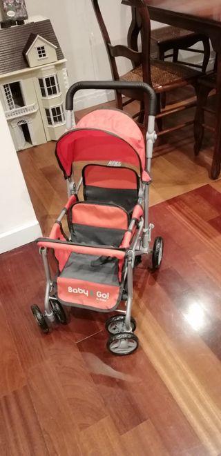 carrito juguete gemelar