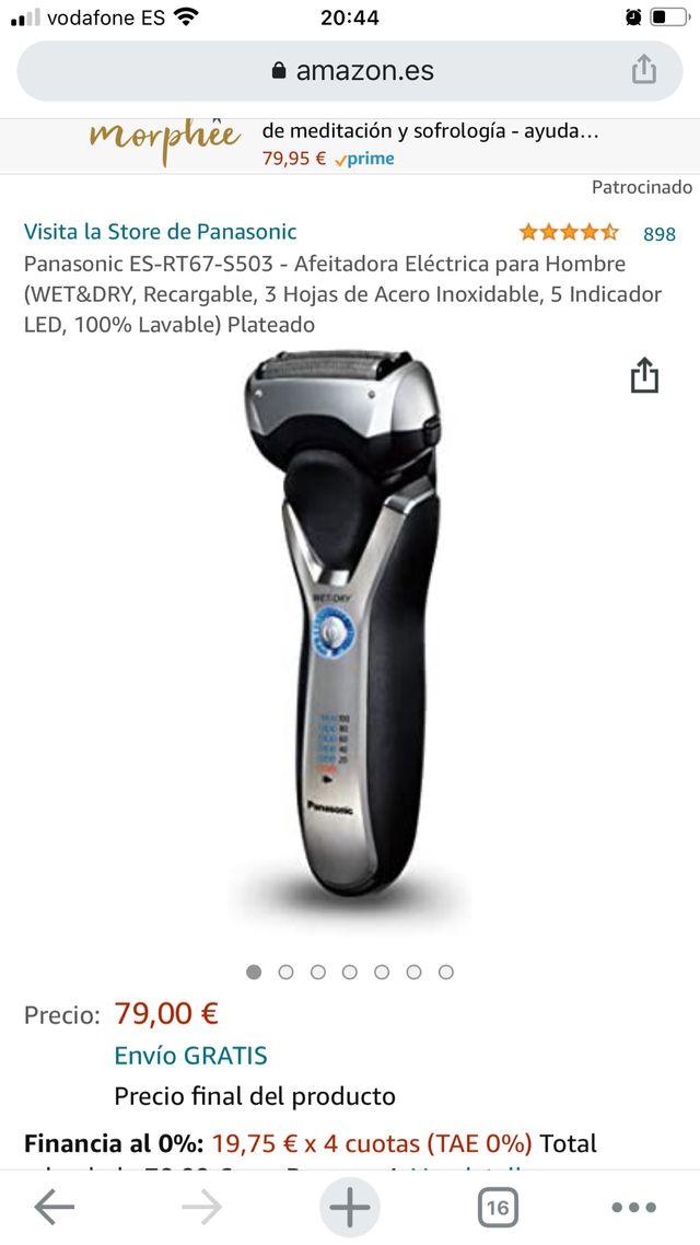 AFEITADORA ELÉCTRICA PANASONIC 3BLADE