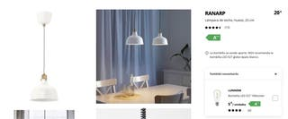 Lamparas Ranarp de Ikea
