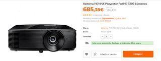Proyector Optoma HD141X. Bombilla nueva garantia