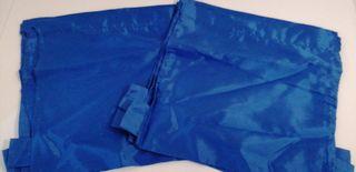 6 bolsas tula azul de tela 26 x 29,50 cm