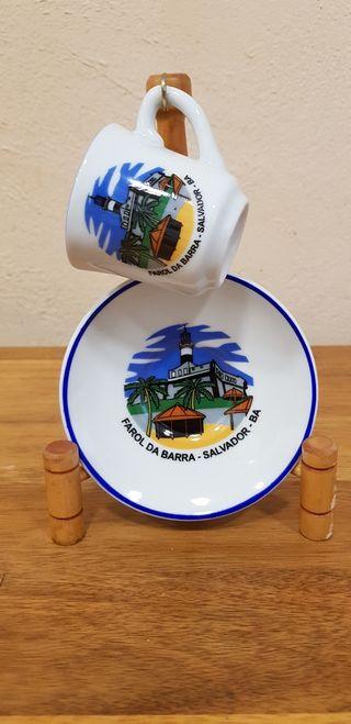 Conjunto taza, plato y soporte