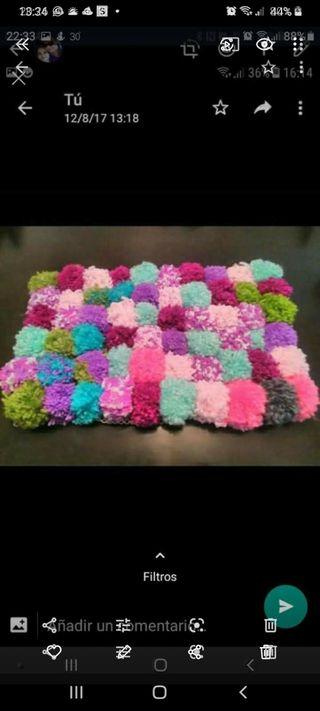 alfombras de pompones ...