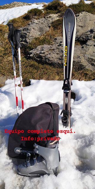 equipo esquí