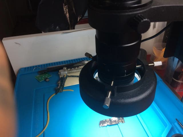 Lámpara ajustable USB 48LED microscopio Industrial