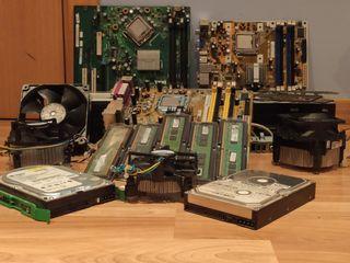 placas base+CPU+lectores DVD+RAM+hdd+cooler intel