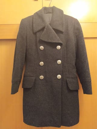 Abrigo Negro Caliente! muy bonito puesto