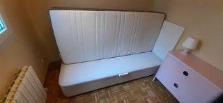 Cama (canapé) y colchón Ikea 90 x 200 cm