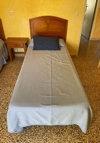 Cabecero de madera para cama individual