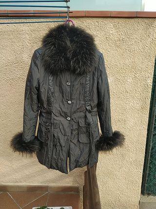 Abrigo Nuevo de piel de zorro y conejo