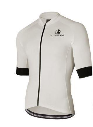 Maillot ciclismo blanco Etxeondo sin estrenar