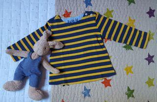 Camiseta sudadera marinera (rayas amarillo y azul)