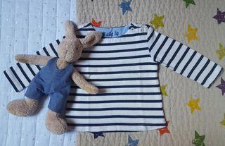 Camiseta sudadera marinera (rayas blanco y azul)