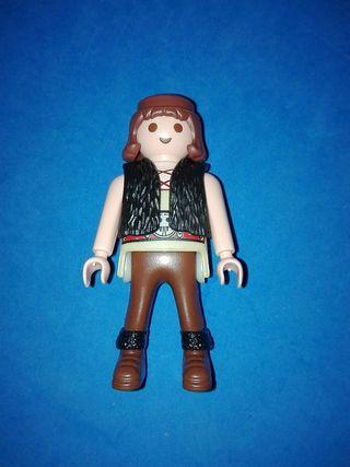 numero 586 playmobil figura medieval campesino