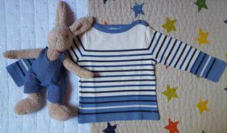 Camiseta sudadera marinera Petit Bateau