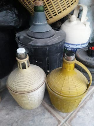 garrafas cristal para vino y botijo