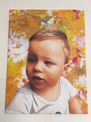 Personalised Cartoon Portrait Print Canvases