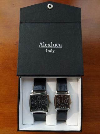 Juego de relojes italianos de señora y caballero