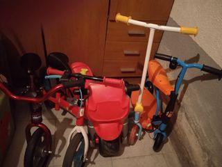 Lote infantil de bicicletas,moto y patinetes