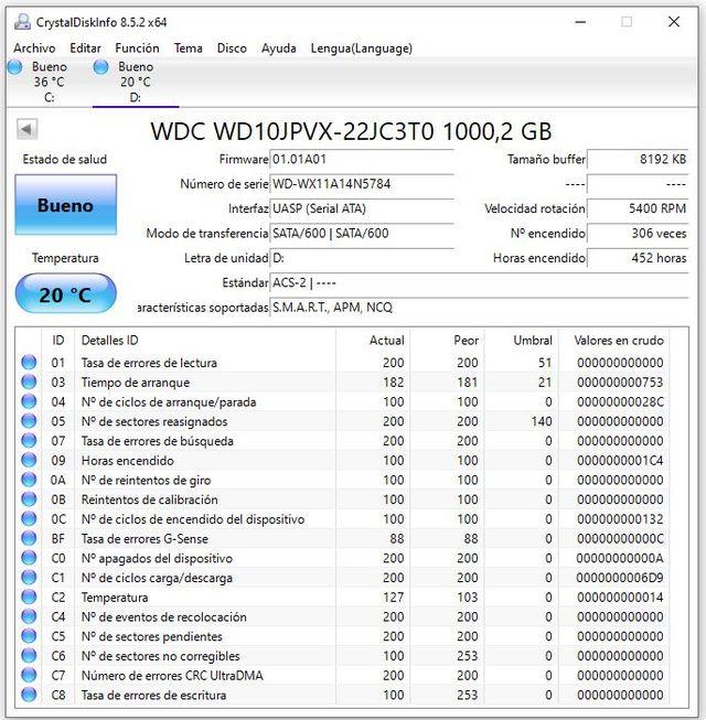 """DISCO DURO WESTERN DIGITAL SATA 1TB 2.5"""""""