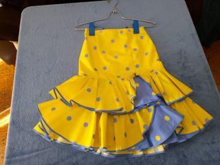 falda flamenca corta talla 32/34