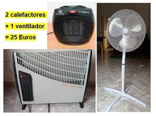 2 calefactores + 1 vendilator por 25 euros.