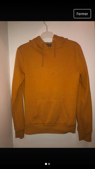 Sweat femme orange foncé
