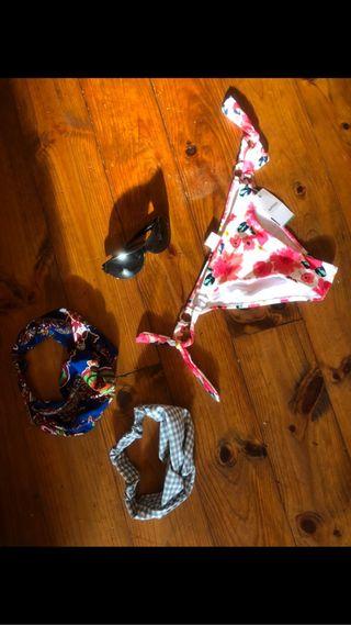 Pack: Bikini + diademas + gafas sol
