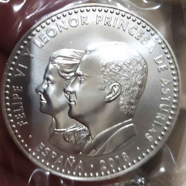 Moneda de plata de 30€.Del año 2018