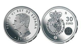 Moneda de 30€ en plata