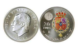 Moneda de 30€ plata