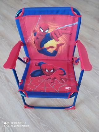 Silla plegable de Spiderman