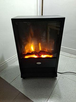Calefactor portales con efecto de llama real