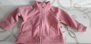 forro polar rosa bebé