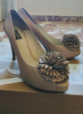 Zapatos tacón 100% piel Zara (41)
