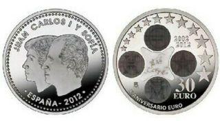 moneda 30€ plata
